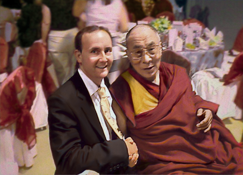 Chris Griffiths with the Dalai Lama
